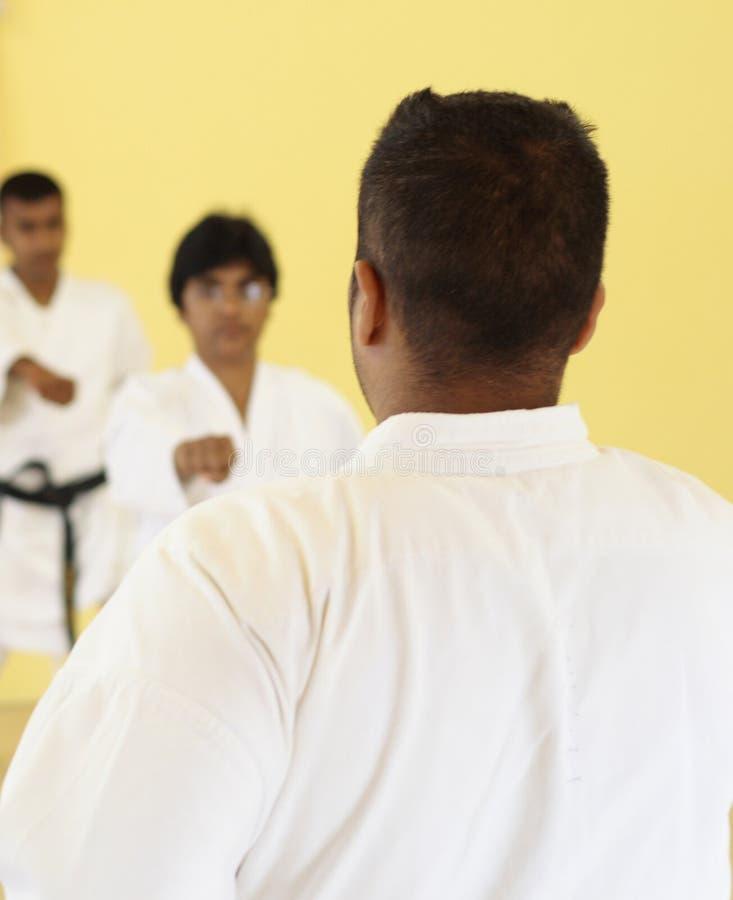 karateteaching arkivbilder