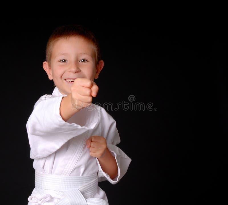 karateunge royaltyfri foto