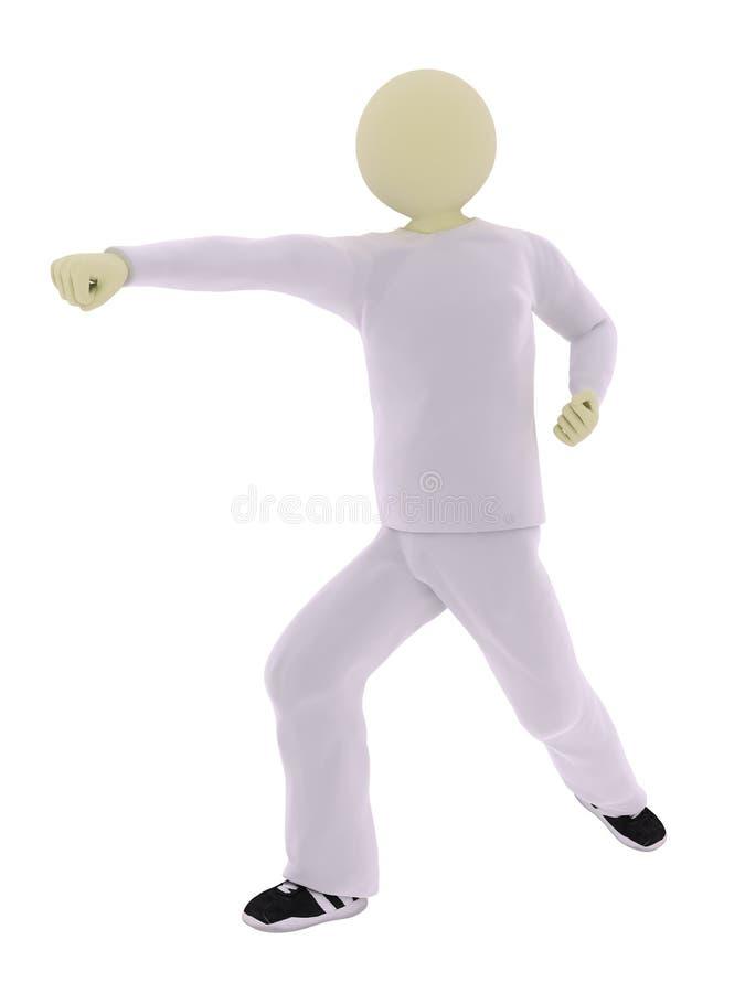 Download Karatist punch stock illustration. Image of player, fitness - 11836589
