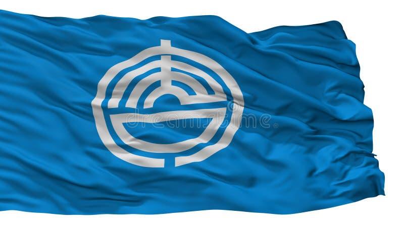 Karatsu-Stadt-Flagge, Japan, Saga-Präfektur, lokalisiert auf weißem Hintergrund stock abbildung