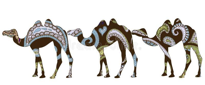 karawana etniczna royalty ilustracja