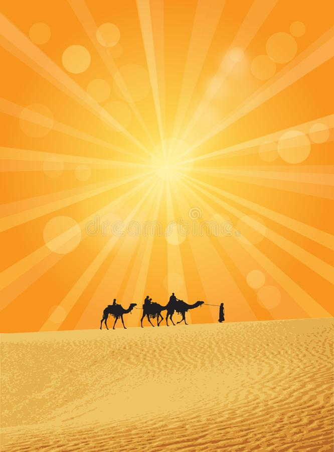Karawana na Sahara ilustracji