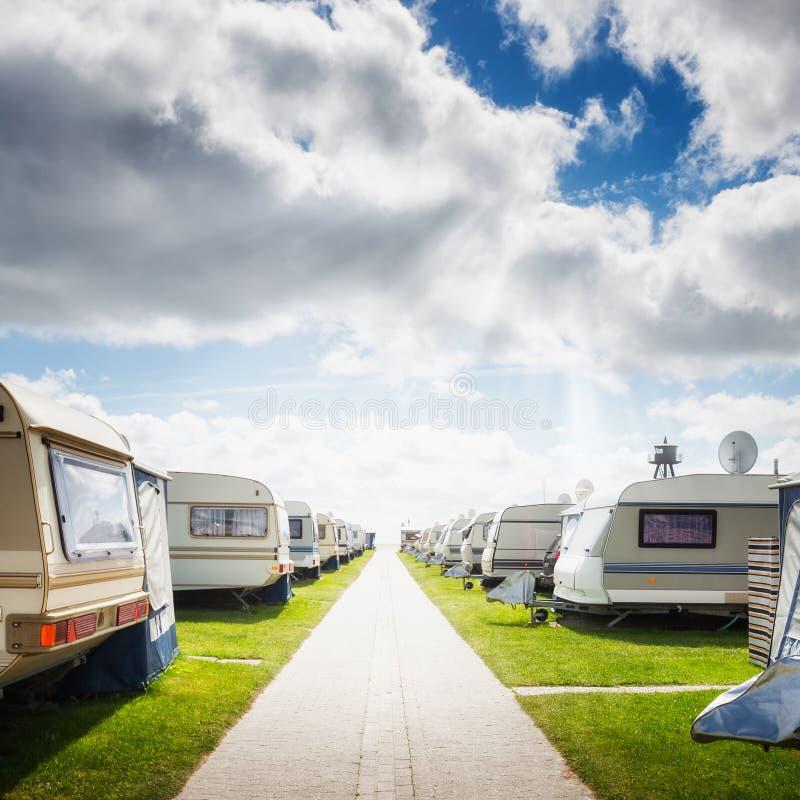 Karawanowy camping fotografia stock