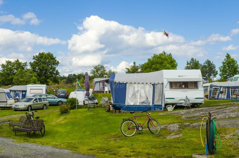 Karawanowy miejsce Arkosund Szwecja zdjęcie royalty free