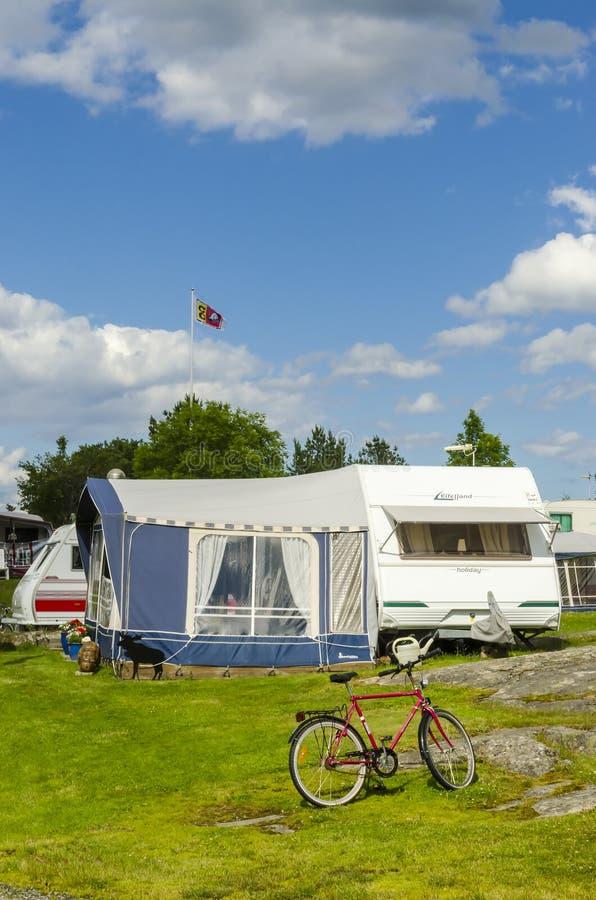 Karawanowy wakacyjny Szwecja fotografia stock