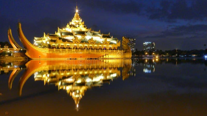 Karaweik Hall Of Kandawgyi Nature Park Myanmar images stock
