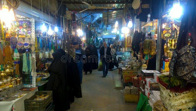 Karbala miasta rynki zdjęcie royalty free