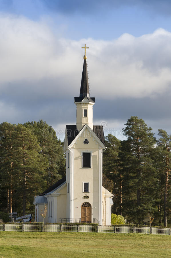 Karbole church Sweden. Karbole church (Swedish: Kårböle) is built along the old pilgrim road to Nidaros. In 19th century it replaced an older chapel stock photos