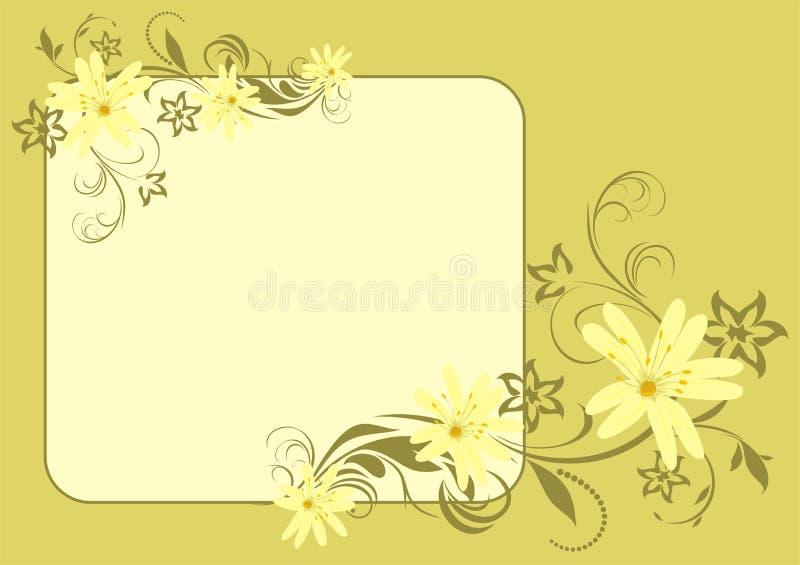 karciana bukiet wiosna ilustracji