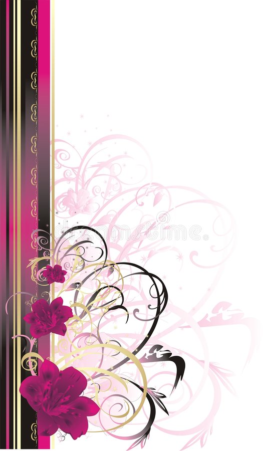karciana dekoracyjna kwiecista ramowa leluja ilustracja wektor