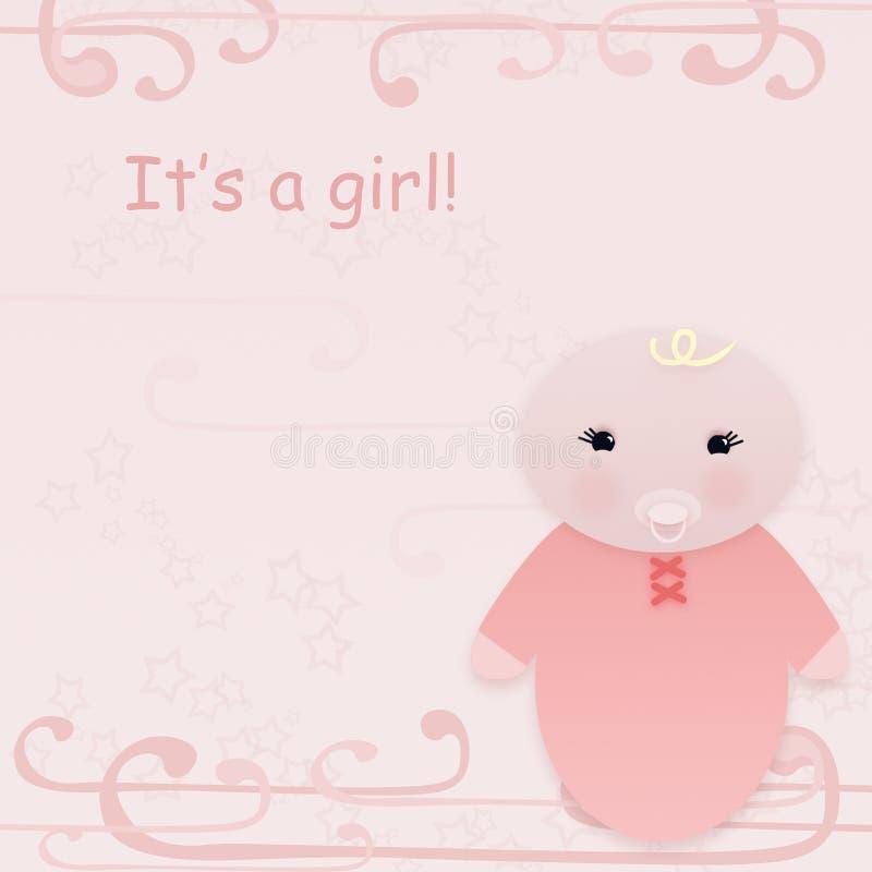 karciana dziewczyna s ilustracji