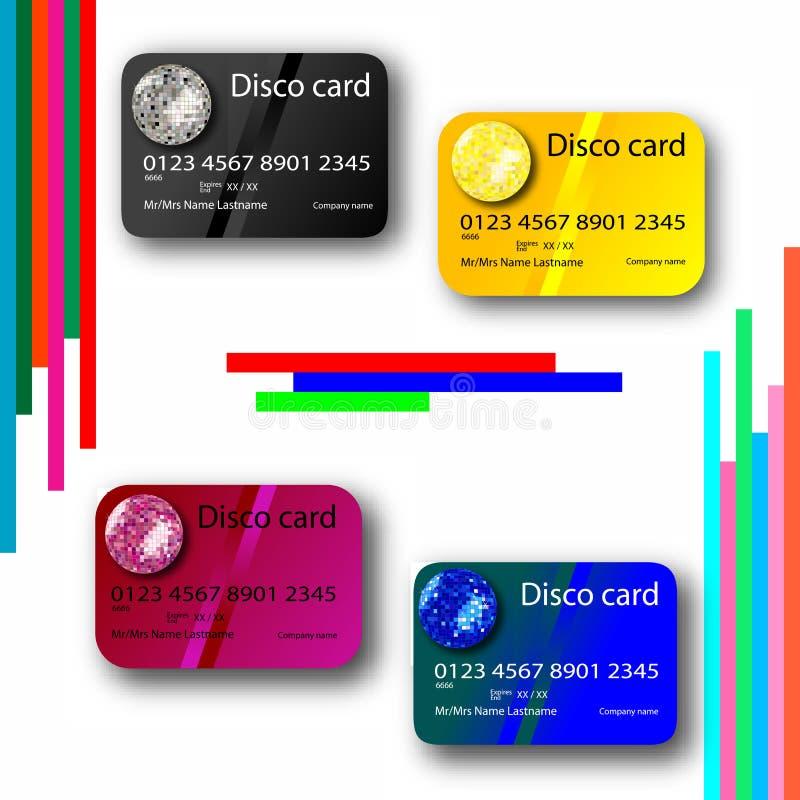 karciana kolekci kredyta dyskoteka ilustracji