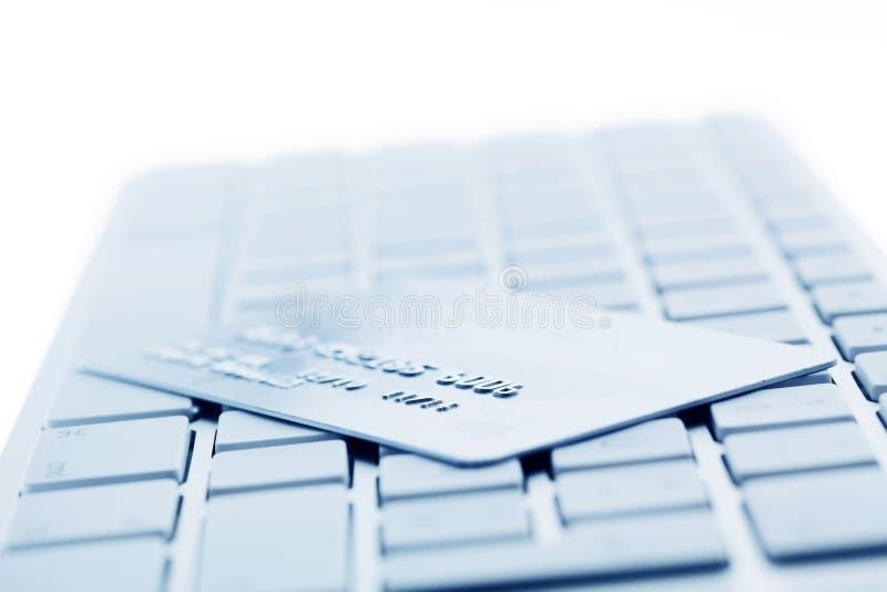 karciana komputeru kredyta klawiatura obrazy stock