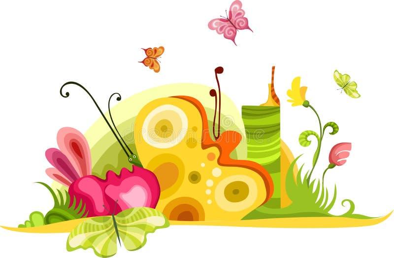 karciana wiosna royalty ilustracja