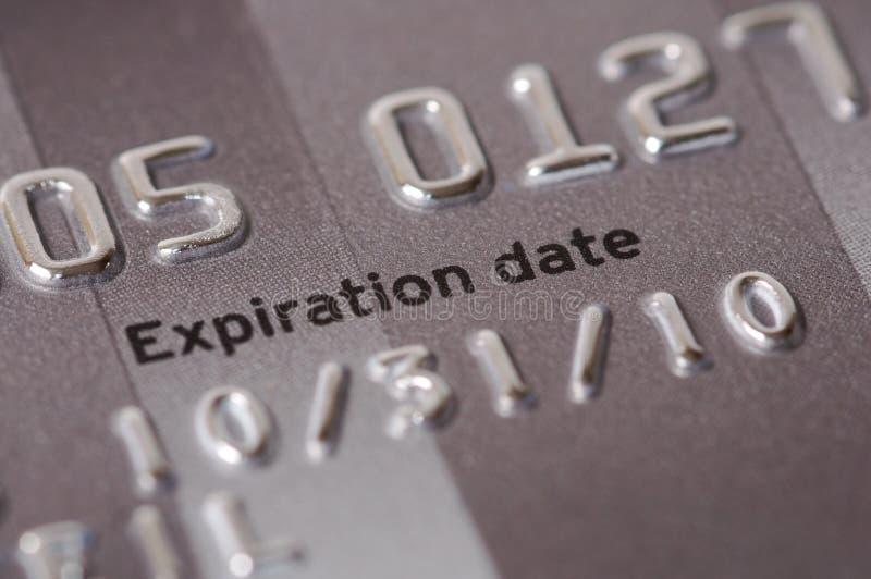 karciana zakończenia kredyta daty ekspiracja karciany zdjęcia stock