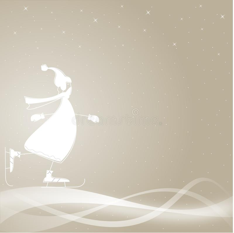 karciana zima ilustracja wektor