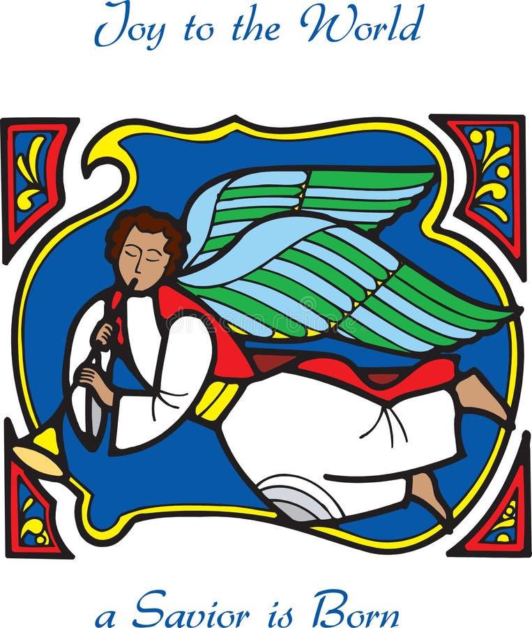 karcianego anioła 3 bożego narodzenia ilustracja wektor