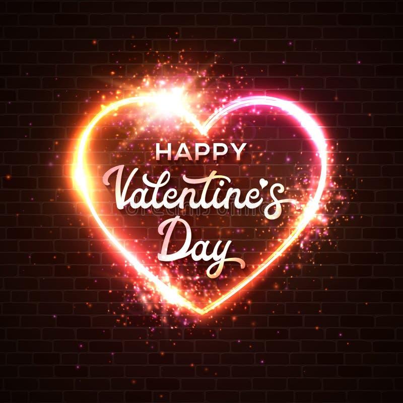 karcianego dzień szczęśliwi valentines Literowanie inskrypcja ilustracja wektor