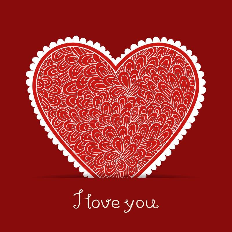 karcianego dzień eps10 powitania ilustracyjny s valentine wektor ilustracji