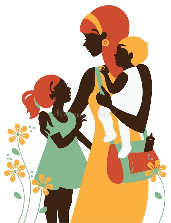 karcianego dzień szczęśliwa matka s royalty ilustracja