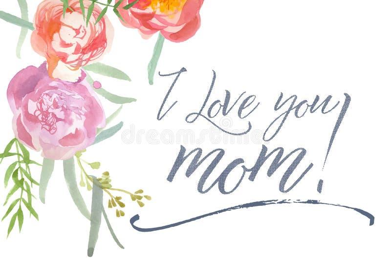 karcianego dzień szczęśliwa matka s ilustracji