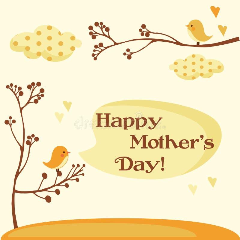 karcianego dzień szczęśliwe matki ilustracji