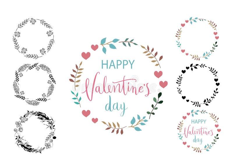 karcianego dzień szczęśliwi valentines Frame set Doskonalić dla wakacje Płaski elegancki projekt również zwrócić corel ilustracji zdjęcie royalty free