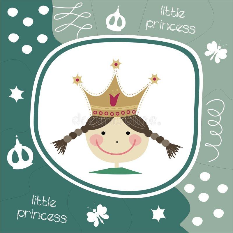 karcianego powitania mały princess royalty ilustracja