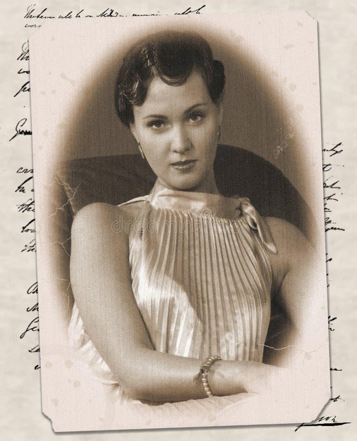 karcianego wizerunku starej kobiety potomstwa zdjęcie stock