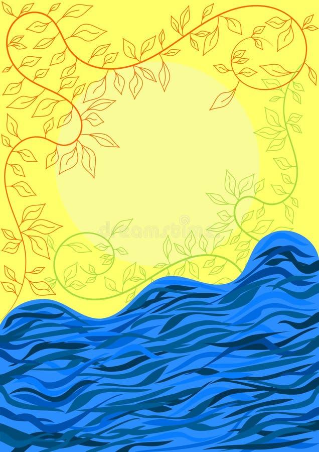 karcianej powitania rzeki skołatane wody ilustracja wektor
