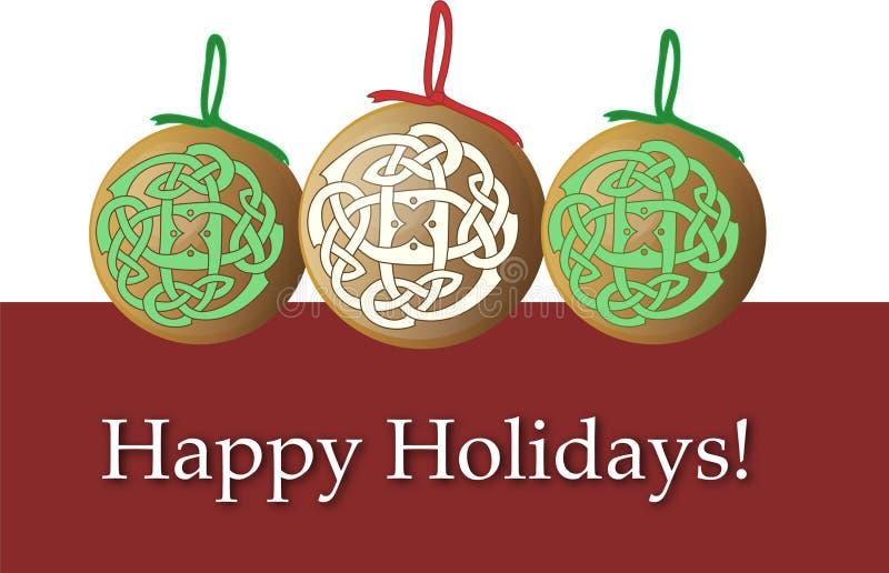 karciani bożych narodzeń wakacje ornamenty ilustracja wektor