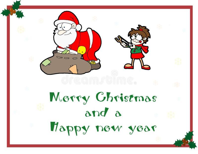 Download Karciani boże narodzenia ilustracji. Obraz złożonej z zło - 7540736