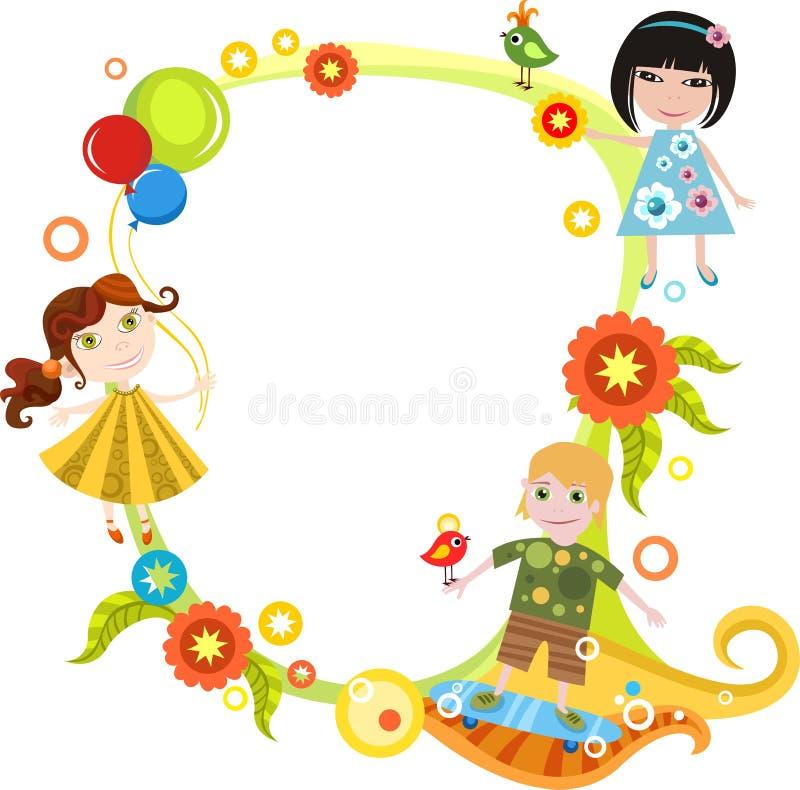 karciani dzieci royalty ilustracja
