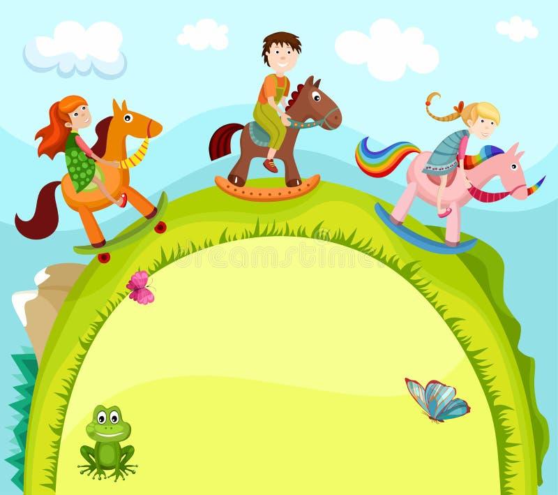 karciani dzieci ilustracji