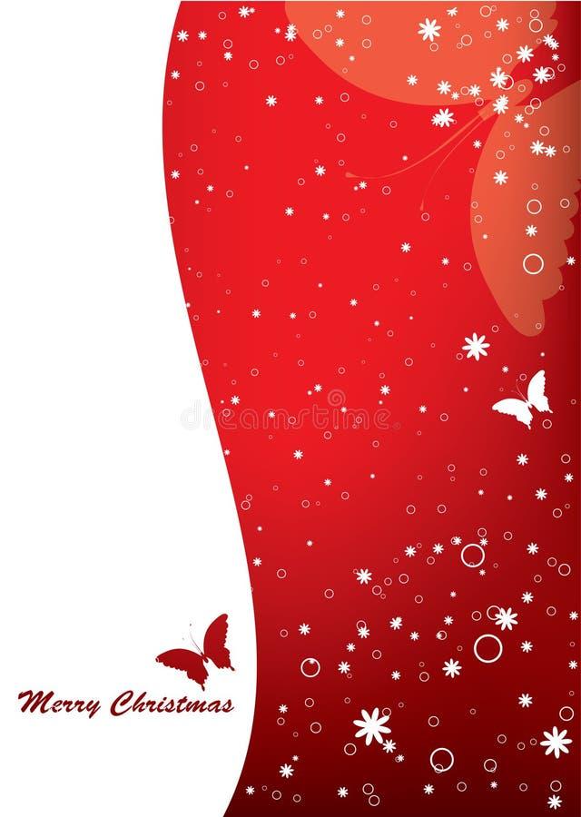 karciani motyli boże narodzenia ilustracja wektor