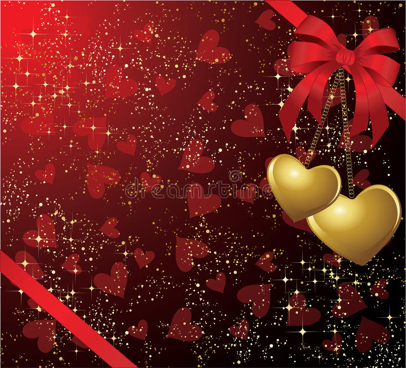 karciani valentines royalty ilustracja
