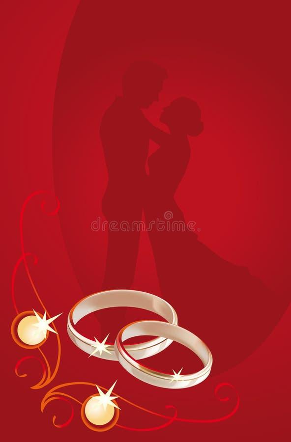 karciany ślub ilustracji