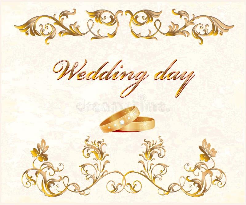 karciany ślub royalty ilustracja