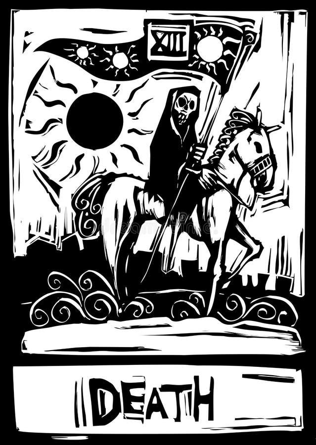 karciany śmiertelny tarot royalty ilustracja