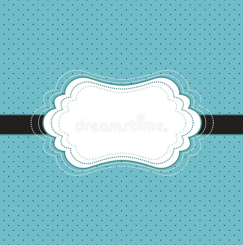karciany błękit rocznik ilustracja wektor