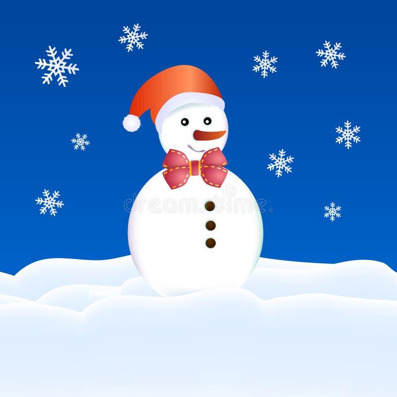 karciany bożych narodzeń kukły śnieg ilustracja wektor