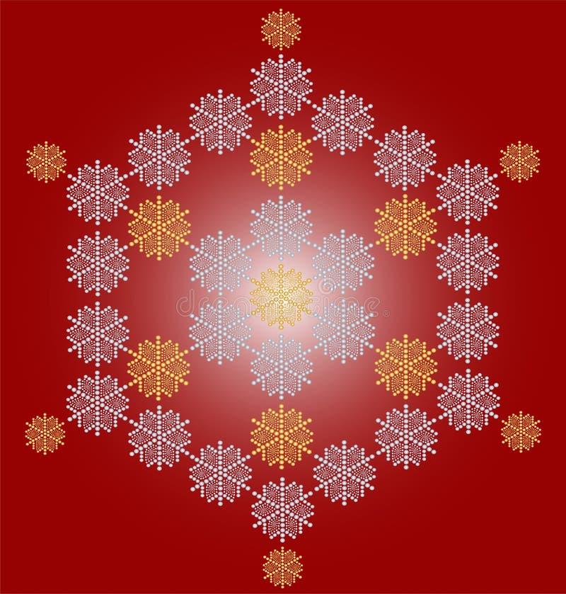 Karciany bożych narodzeń rówieśnika płatek śniegu