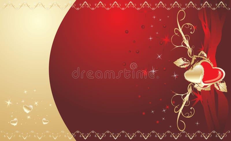 karciany dekoracyjny target1558_1_ serc ilustracja wektor