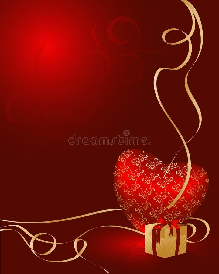 karciany dnia valentine wektor ilustracji