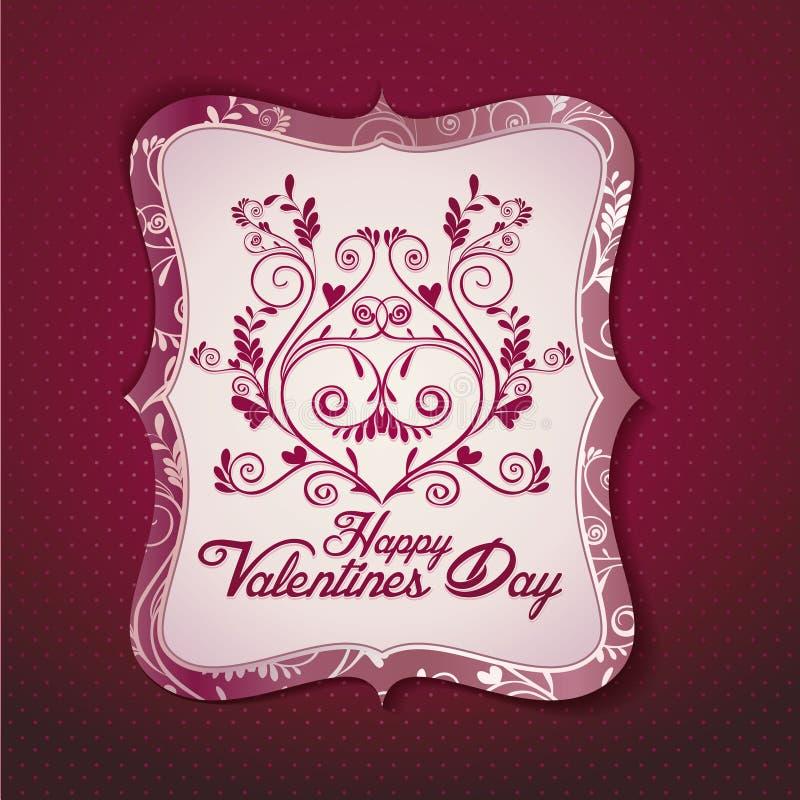 karciany dzień s szablonu valentine wektor royalty ilustracja