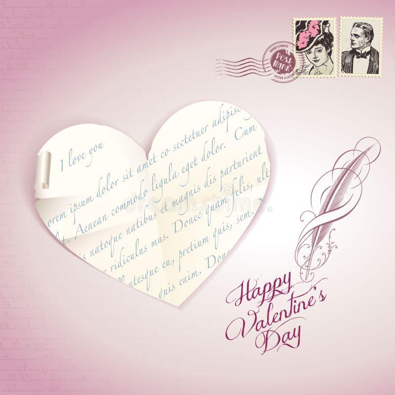 karciany dzień s valentine rocznik royalty ilustracja