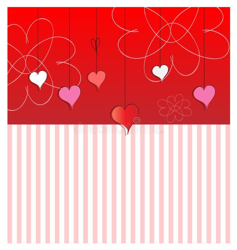 karciany dzień s valentine wektor royalty ilustracja