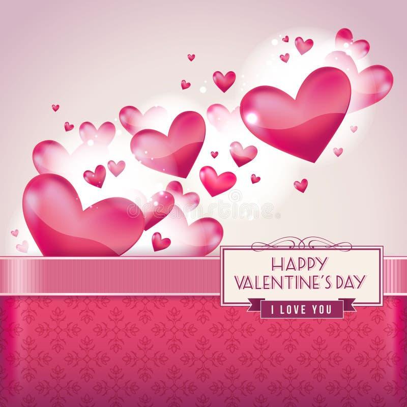 karciany dzień serc s valentine ilustracja wektor