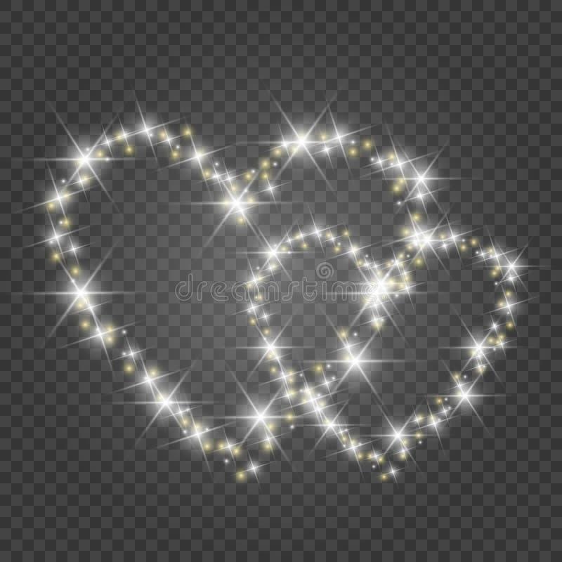 karciany dzie? serc s valentine ?wiat?a i plamy ilustracja wektor
