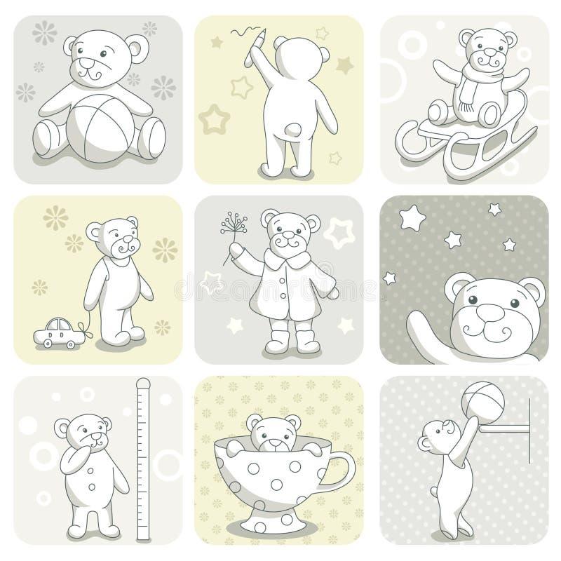 karciany dziecko set ilustracji